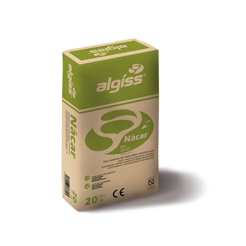 Imagen para Yeso Algíss Nácar B 20 Kg de DecoES